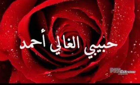 اجمل صور احمد مكتوب بالذهب وفي قلب بالنار حبيبي متحرك لانك احمد طبيعي منك يغارون صقور الإبدآع