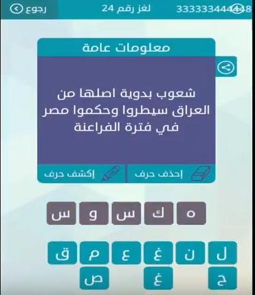 حل شعوب بدوية اصلها من العراق سيطروا وحكموا مصر ايام