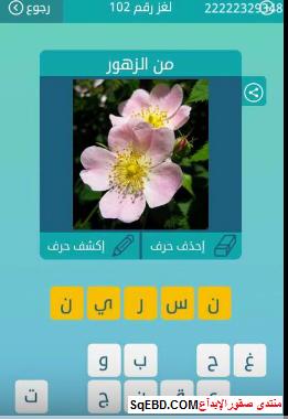جواب سؤال من الزهور   لغز رقم 102 من المجموعة الثانية عشر من لعبة كلمات متقاطعة do.php?img=6618