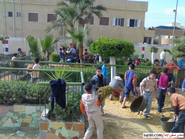 تعبير عن الحديقة المدرسية للصف موضوع عن تجميل حديقة المدرسة