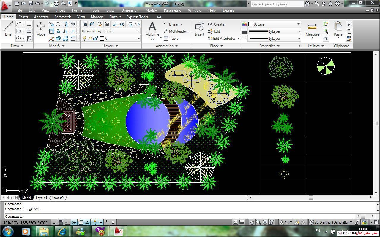 رسم حديقة عامة, مشاريع لاند سكيب اوتوكاد, تصميم حدائق عامة do.php?img=7586