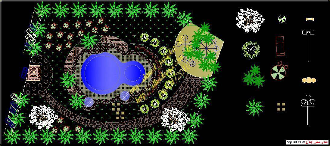 رسم حديقة عامة, مشاريع لاند سكيب اوتوكاد, تصميم حدائق عامة do.php?img=7603