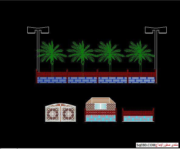 رسم حديقة عامة, مشاريع لاند سكيب اوتوكاد, تصميم حدائق عامة do.php?img=7604