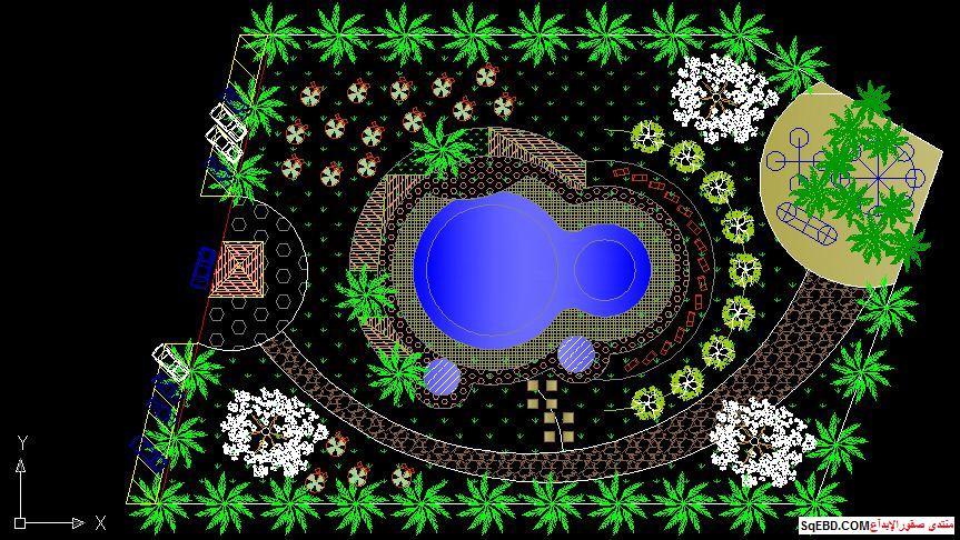 رسم حديقة عامة, مشاريع لاند سكيب اوتوكاد, تصميم حدائق عامة do.php?img=7605