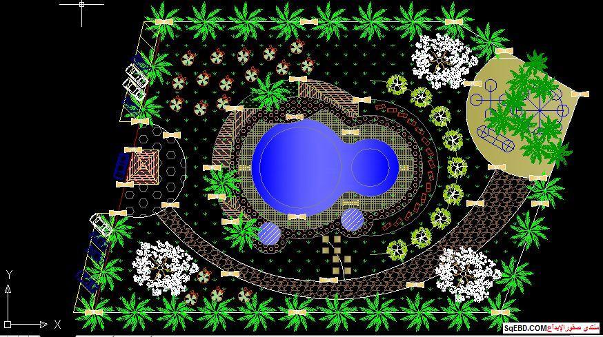 رسم حديقة عامة, مشاريع لاند سكيب اوتوكاد, تصميم حدائق عامة do.php?img=7606