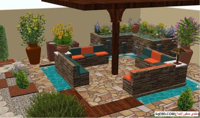 جلسات خارجية للحدائق, احواض زراعه و ديكورات حجرية لحديقة منزلك, do.php?img=7627