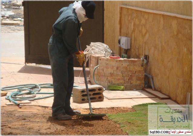 حدائق منزلية بسيطة , احواض زراعية منزلية , تبليط الحوش do.php?img=7792