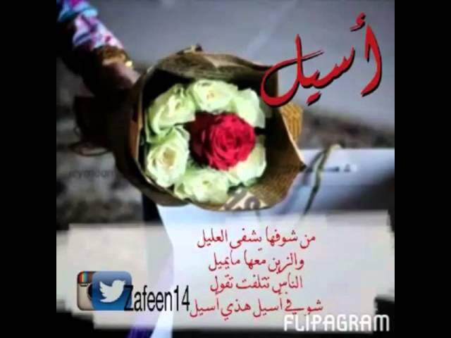 صور اسم اسيل عربي و انجليزي مزخرف معنى صفات دلع وشعر وغلاف
