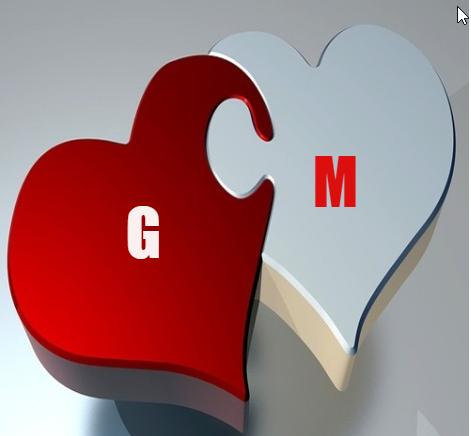 صور حرف G و M قلب واحد مع بعض خلفيات حلوة لحرف G و M مع بعض بطاقات بتجنن لحرف الدجى مع حرف الإم صقور الإبدآع